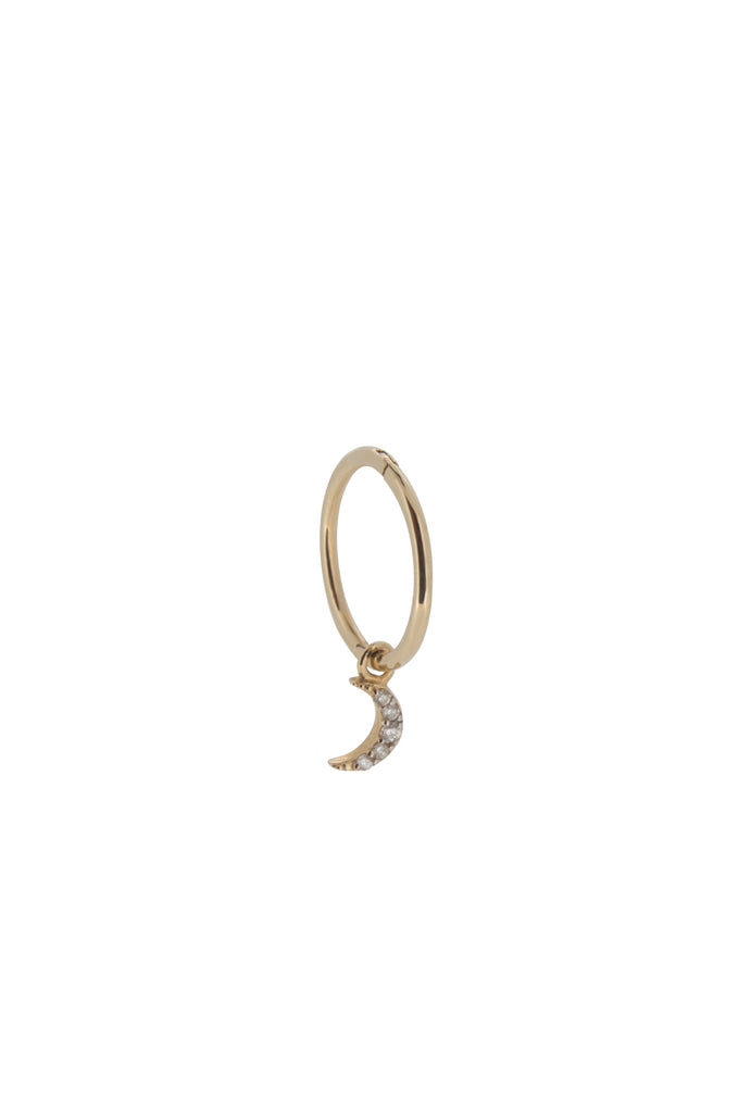Ayla moon crescent hoop earring - Right - KOOKII B