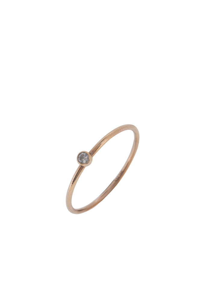 Crystal Stacker Rose Gold Ring US7 - KOOKII B