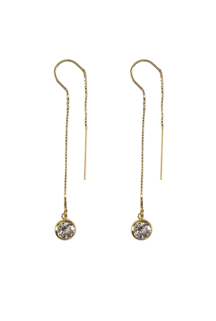 Garcia crystal dot gold thread earrings - KOOKII B
