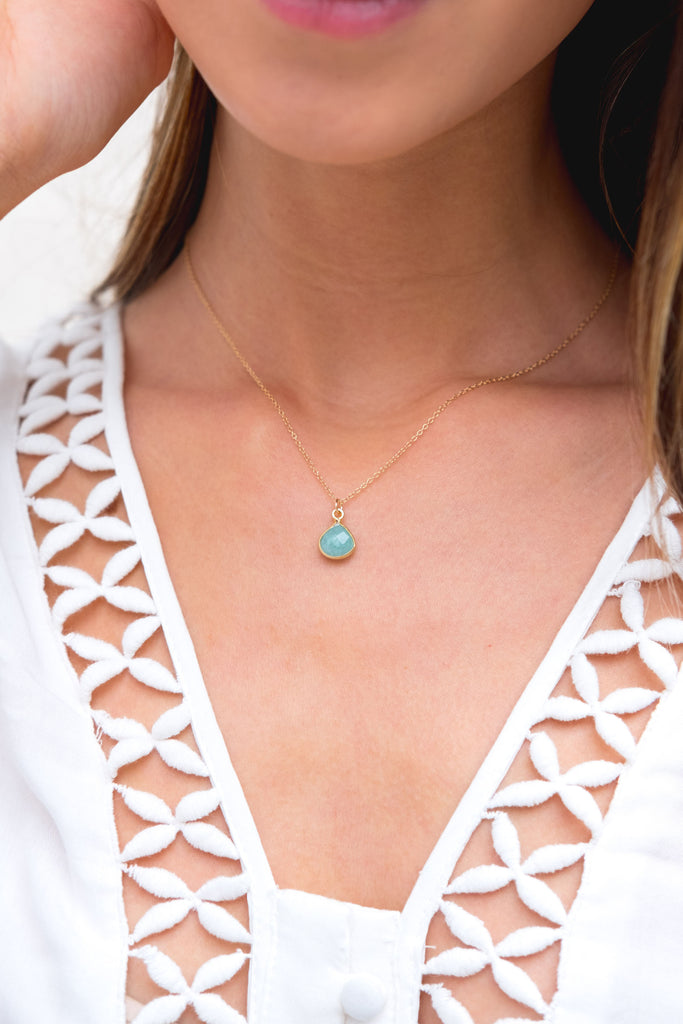 Jemme Amazonite drop necklace - KOOKII B