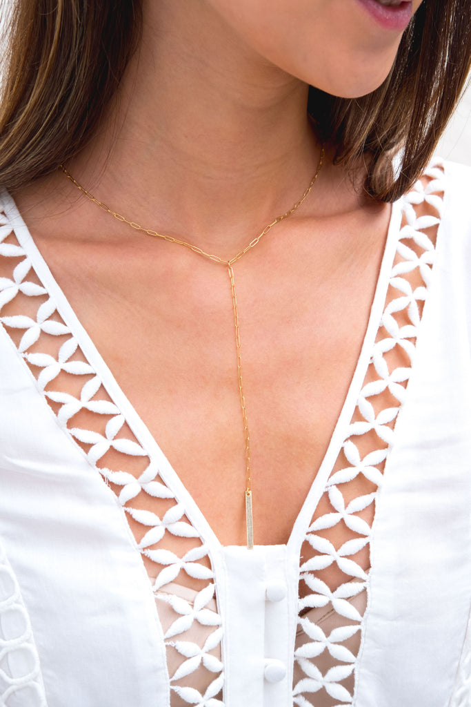 Meyer long link lariat drop necklace - KOOKII B