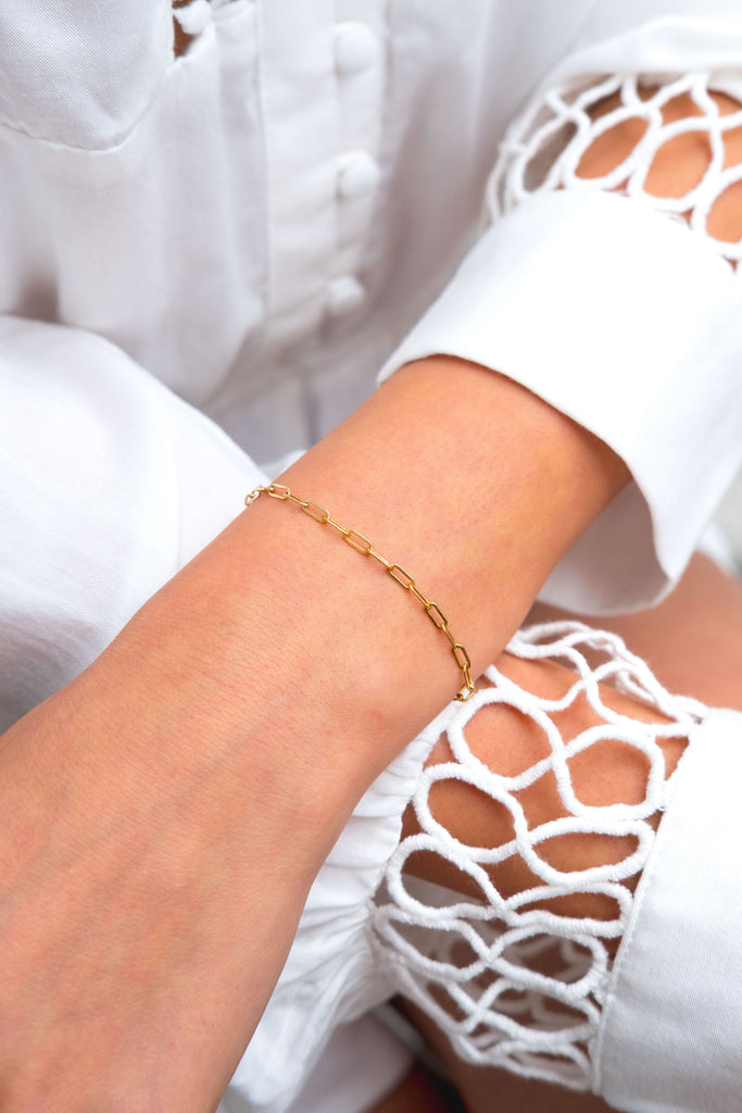 Tessa heavy long link bracelet