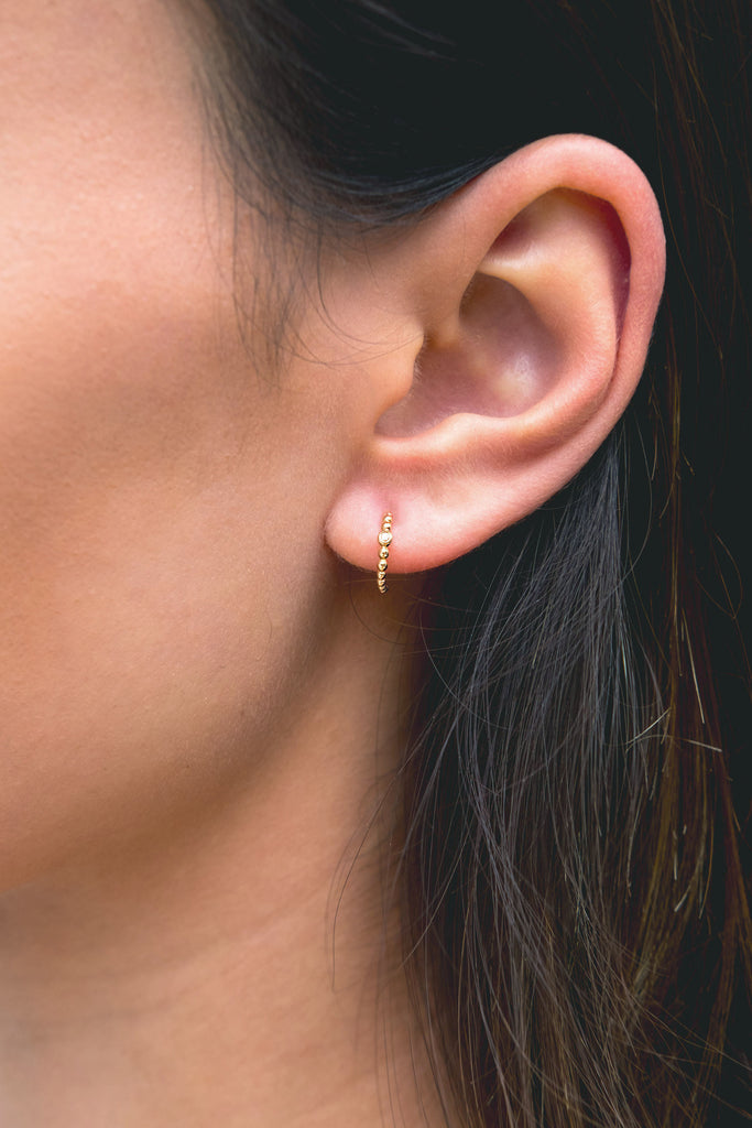 Cosmos diamond orbit earring - KOOKII B
