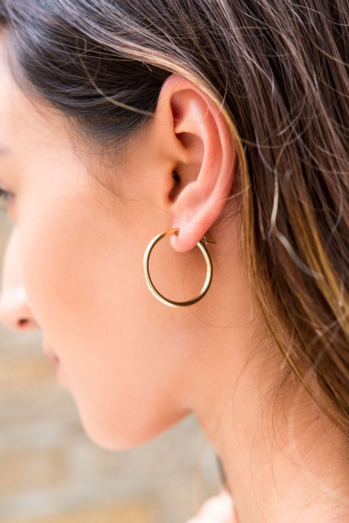 Sivan midi hoop earrings - KOOKII B
