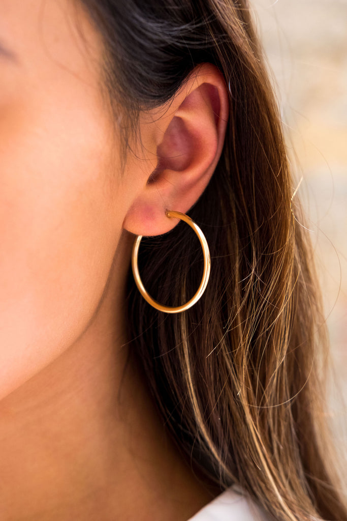 Sivan maxi hoop earrings - KOOKII B