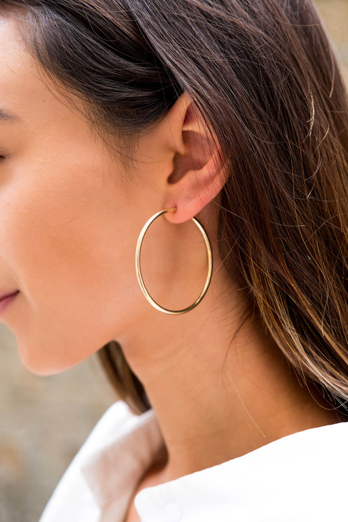 Sivan X Gold Hoop Earrings - KOOKII B