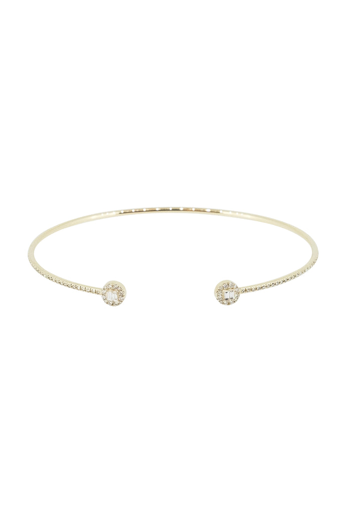 Rei Minimal Circle Diamond Cuff Bangle - KOOKII B