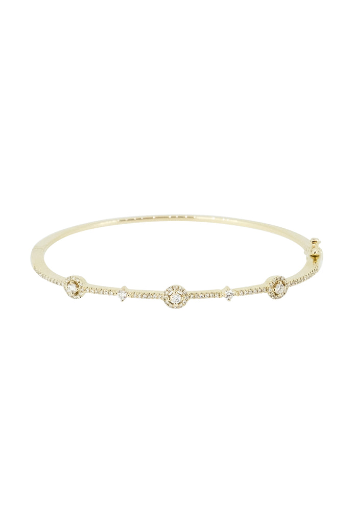 Freya Diamond Crown Signature Bangle - KOOKII B