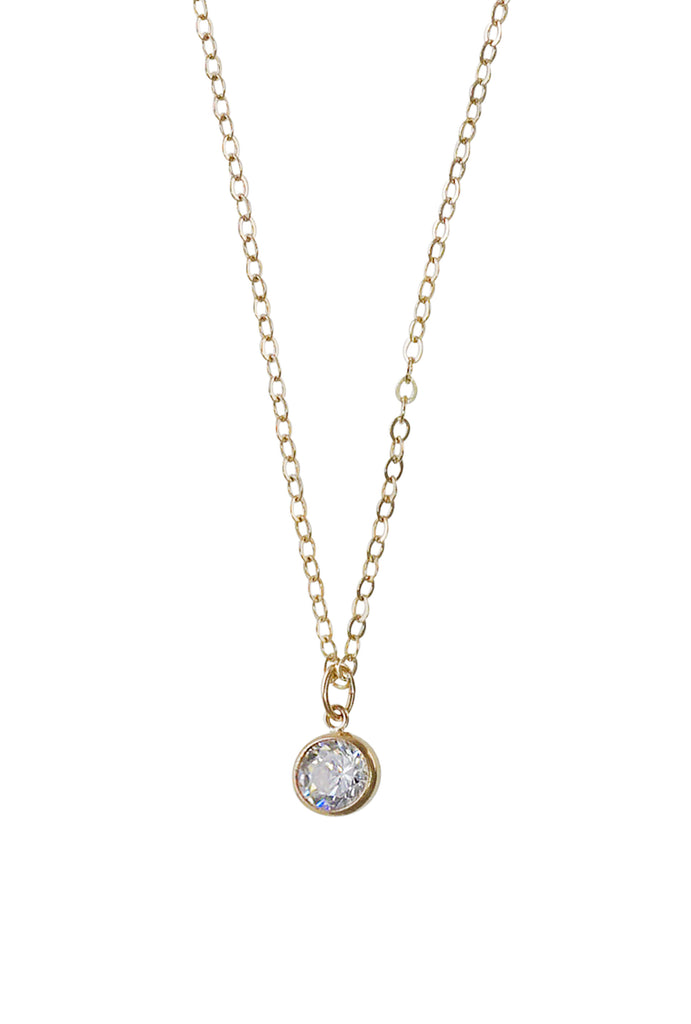 Eve crystal dot necklace - KOOKII B