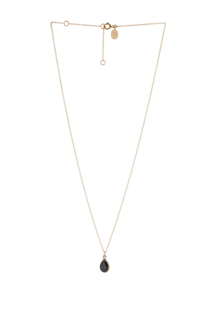 Jemme Black Spinel drop necklace - KOOKII B