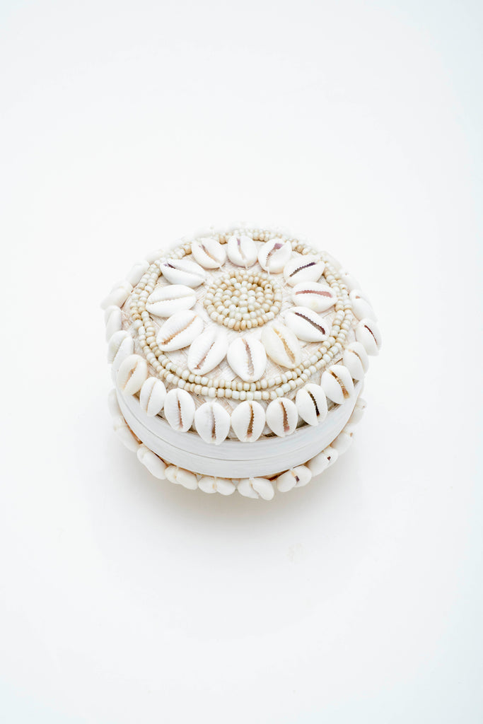 Round Shell Trinket Box