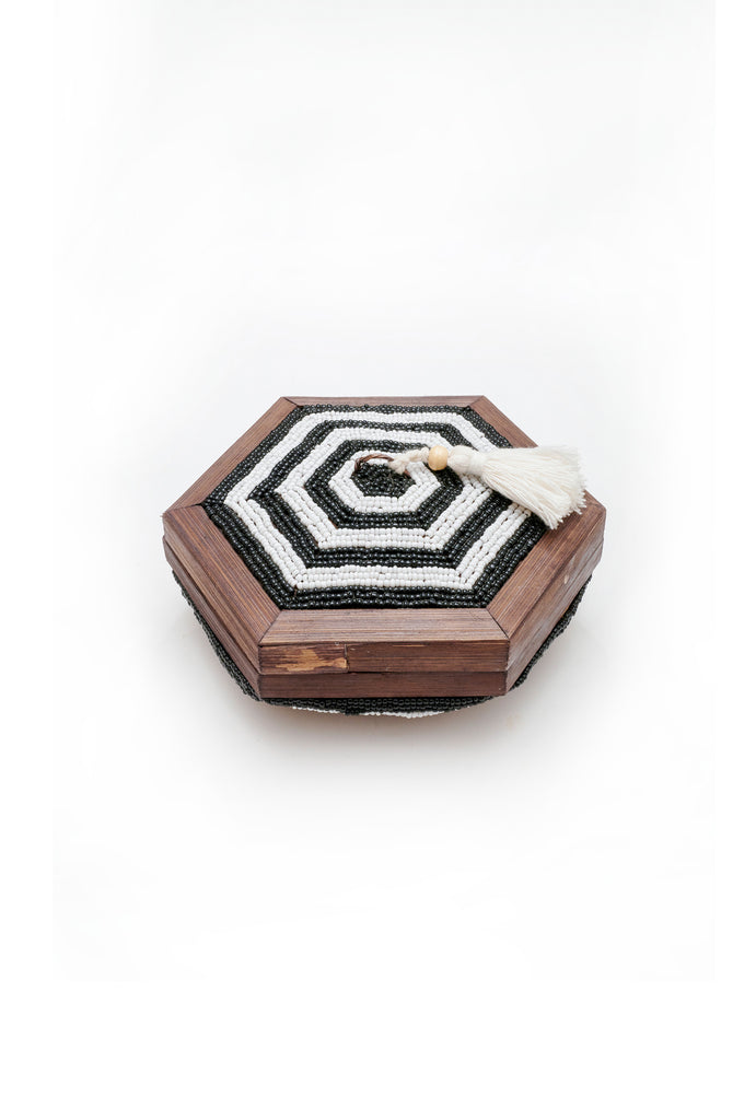Tassel Hex Shell Trinket Box - Medium