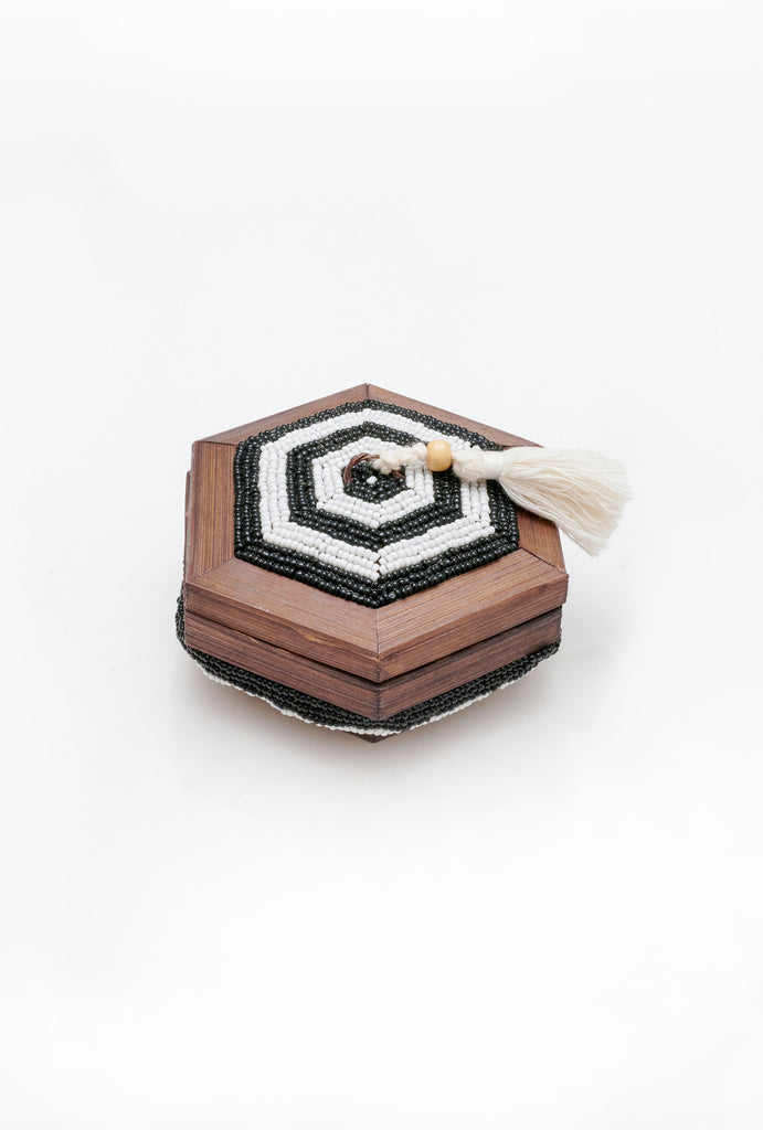 Tassel Hex Shell Trinket Box - Small