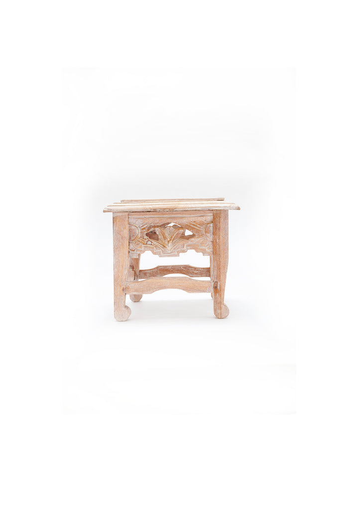 Wooden Carved Mini Table