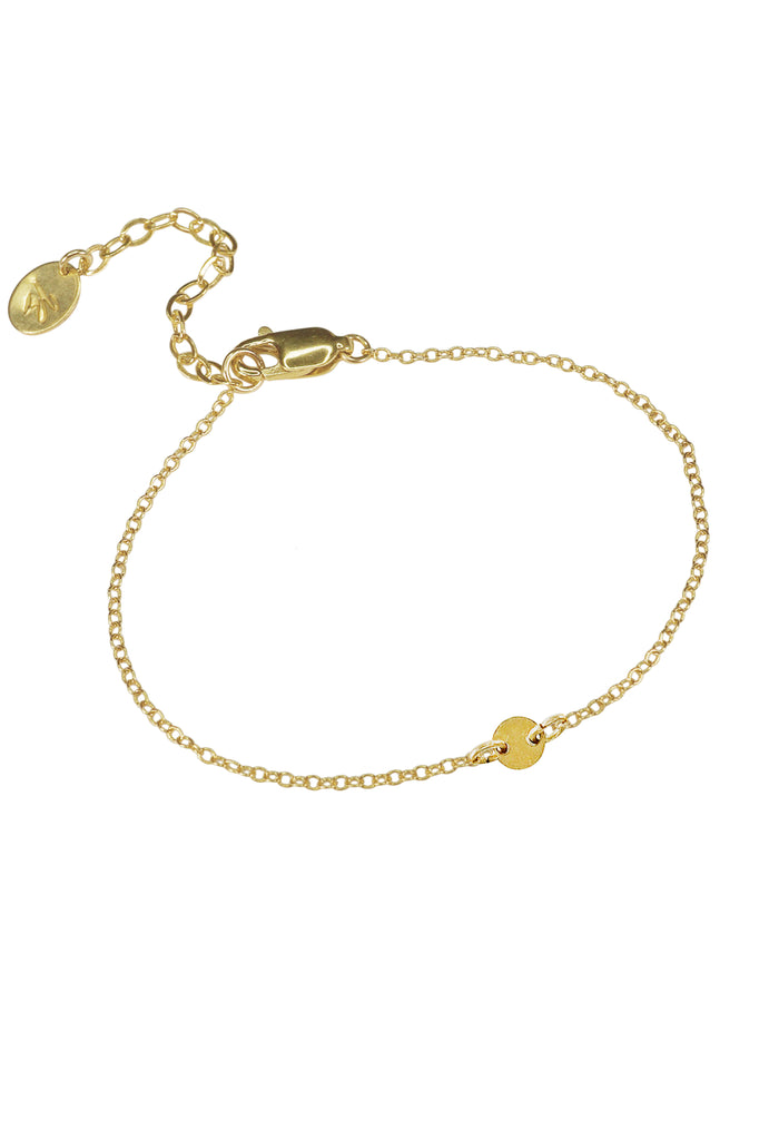 Lorna tiny dot gold chain bracelet - KOOKII B