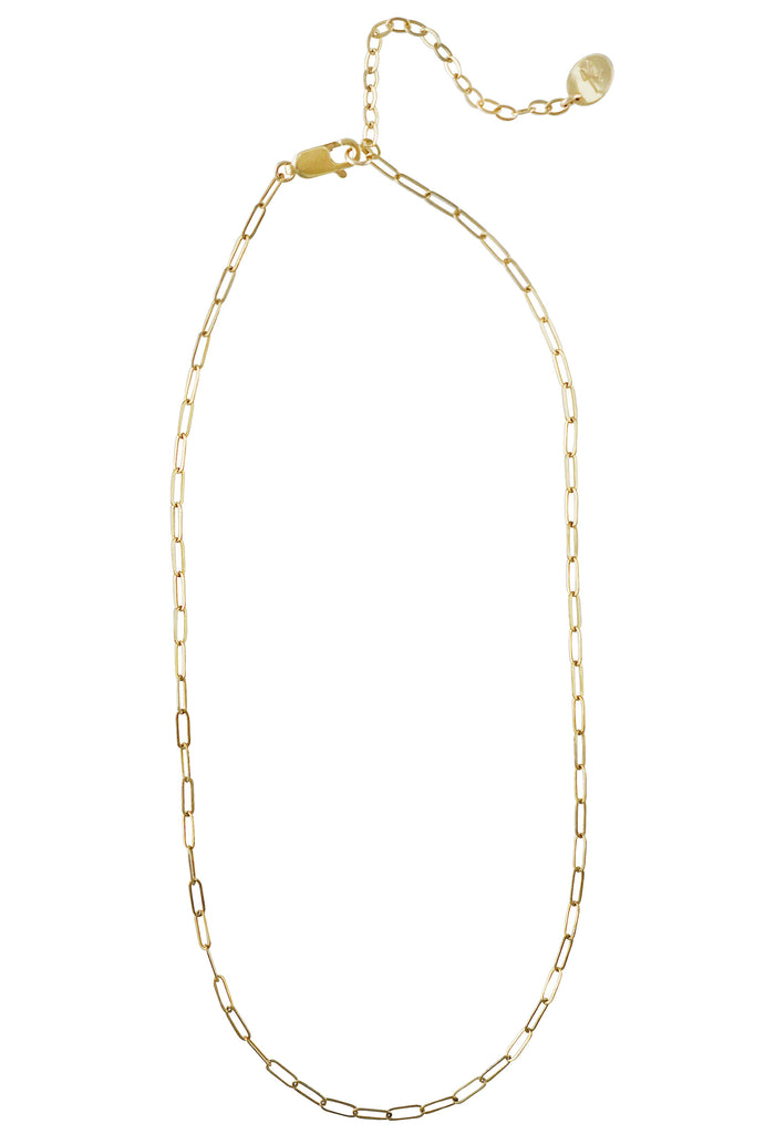 Mila long link gold chain necklace - KOOKII B