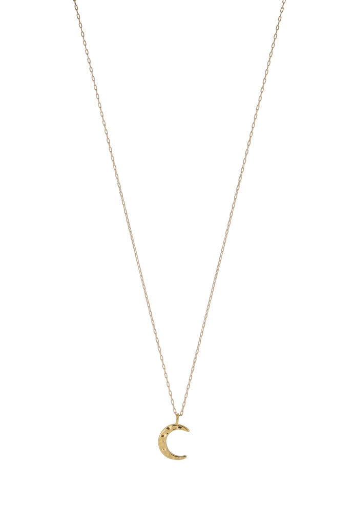 Neoma New Moon Crescent Gold Pendant Necklace - KOOKII B