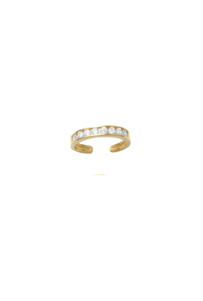 No piercing Olivia crystal channel band gold earcuff