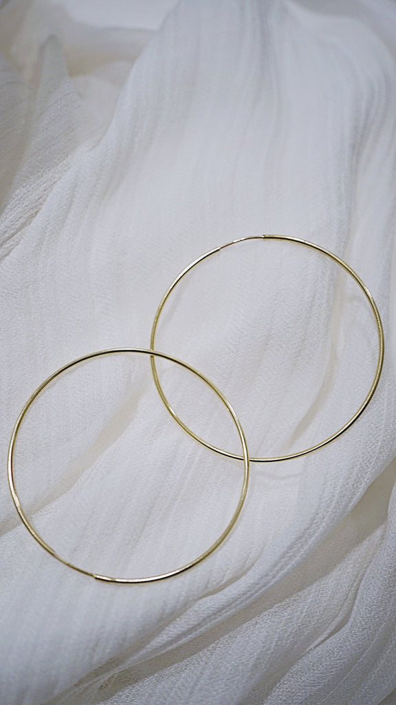 Rochelle maxi endless gold hoop earrings - KOOKII B