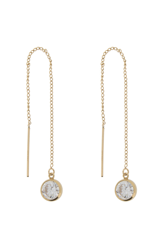 Sana crystal drop earthread earrings - KOOKII B