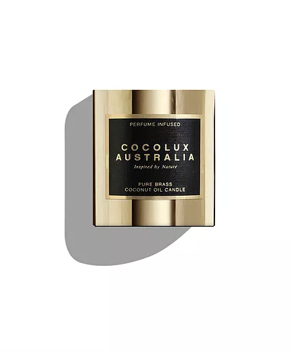 Cocolux Luna Gold Brass Candle - Island Fig, Cassis and Peach