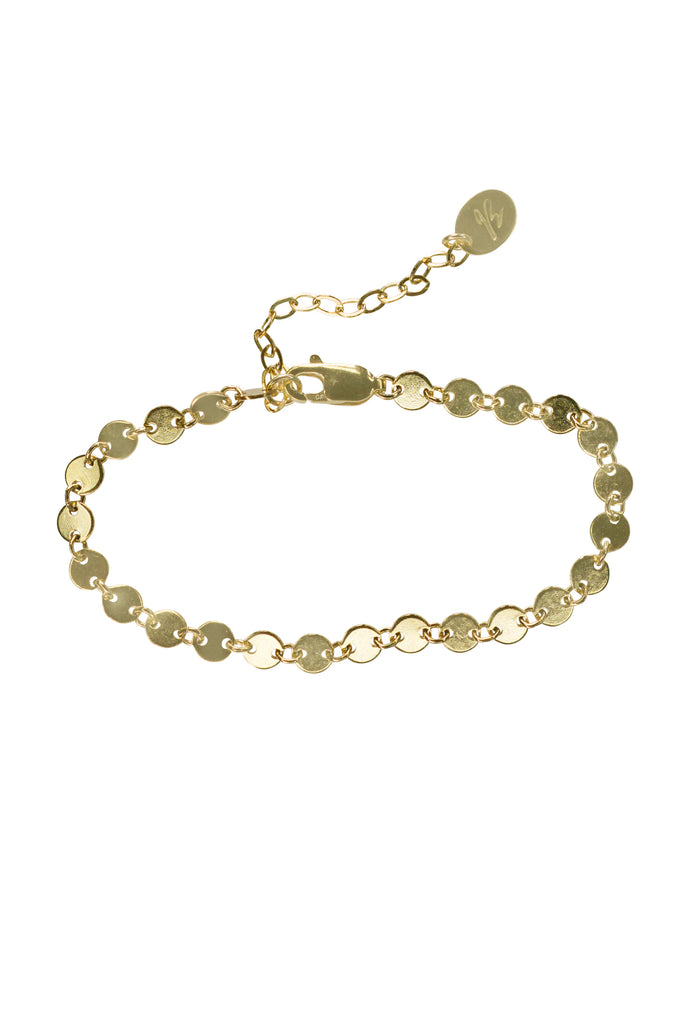 Taylor infinite circle disc gold chain bracelet - KOOKII B