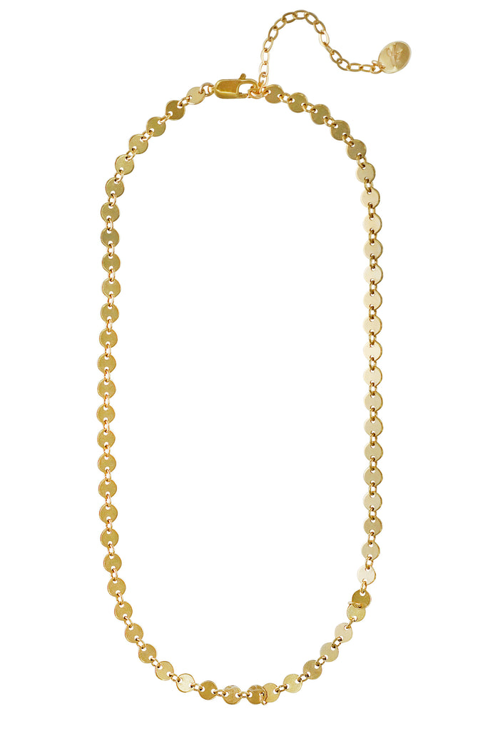 Taylor infinite circle disc gold chain necklace - KOOKII B