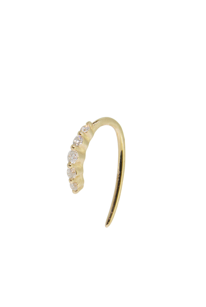Arlo diamond cuff earring