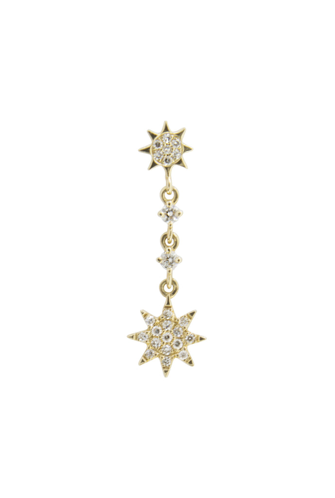 Celeste diamond stars droplet earring