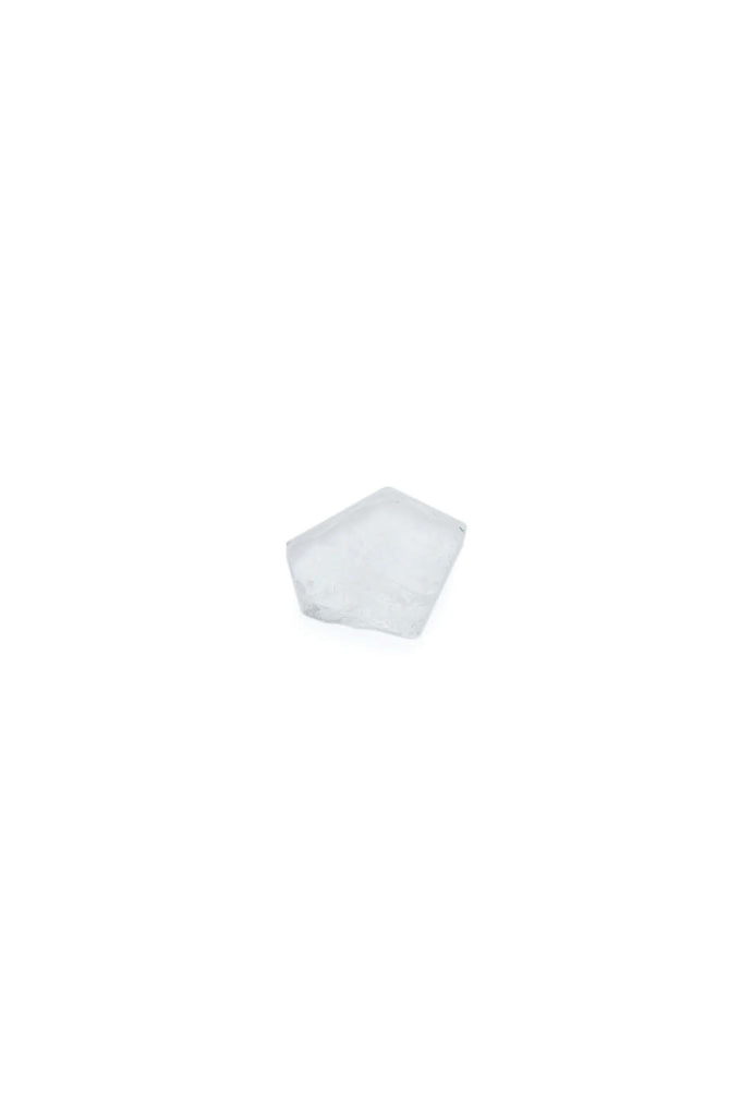Clear quartz crystal hex chip