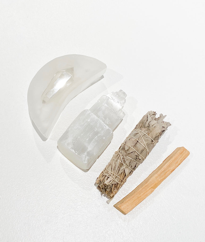 Selenite Moon Dish No. I