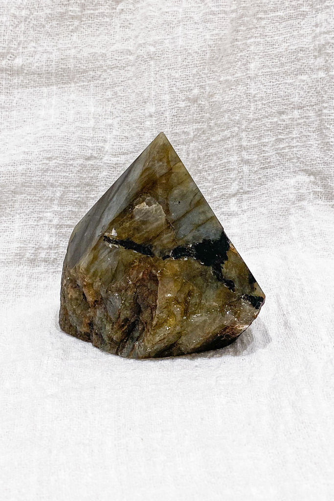 Labradorite Half Polished Generator Point No. I