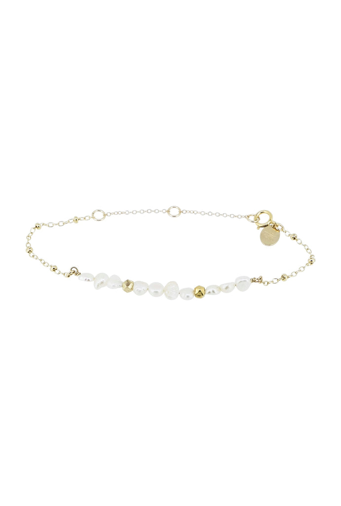 Meris Pearl Beaded Bar Bracelet - KOOKII B