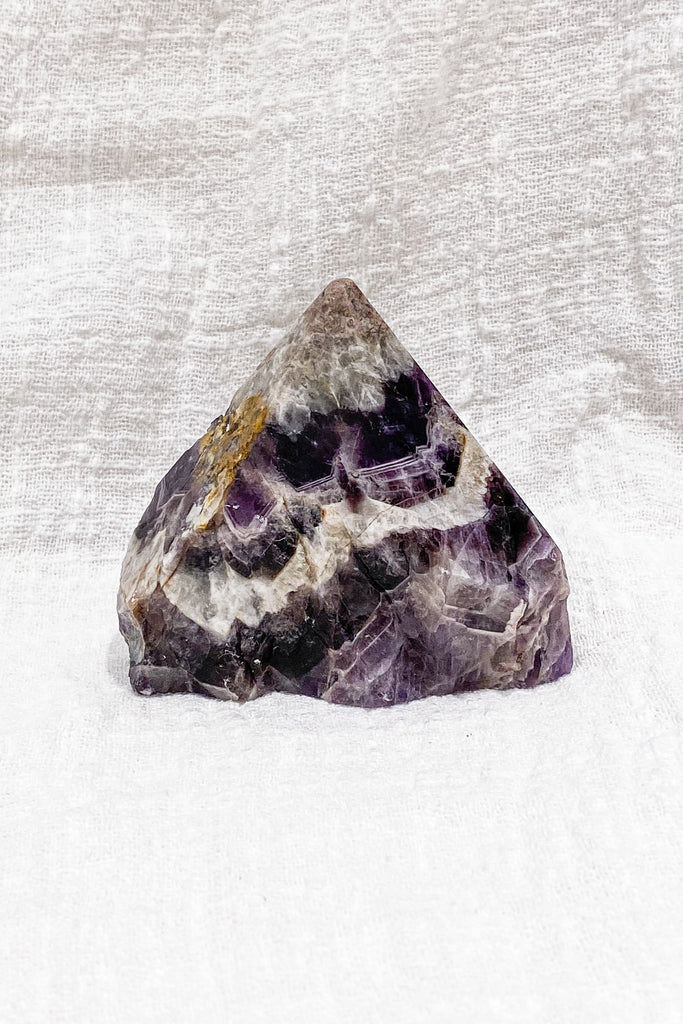 Chevron Amethyst Half Polished Generator Point No. I
