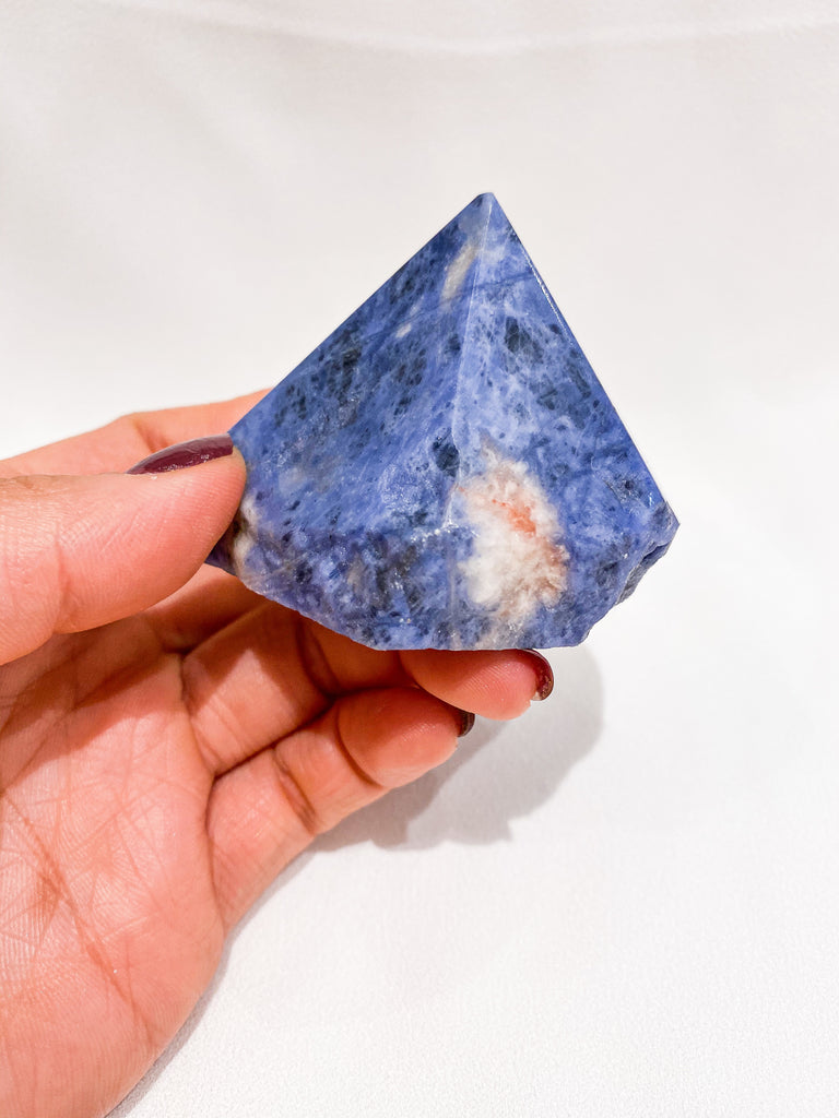 Sodalite Half Polished Generator Point No. IV