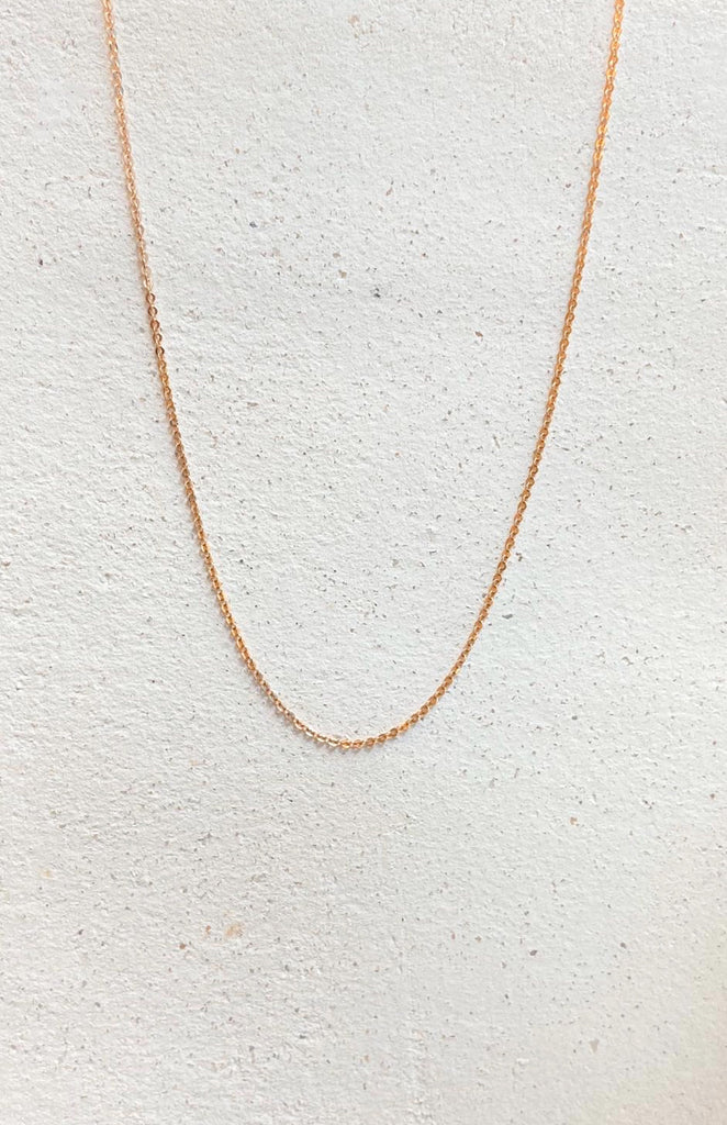 "Kristyna 18K Rose gold 20"" long necklace"