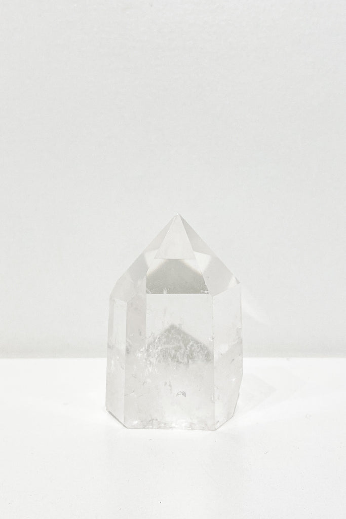 Clear Quartz Crystal Manifestation Tower Point - M