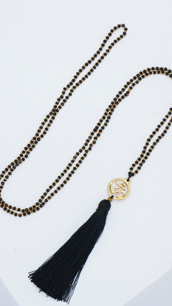 Long Crystal Tassel Necklace