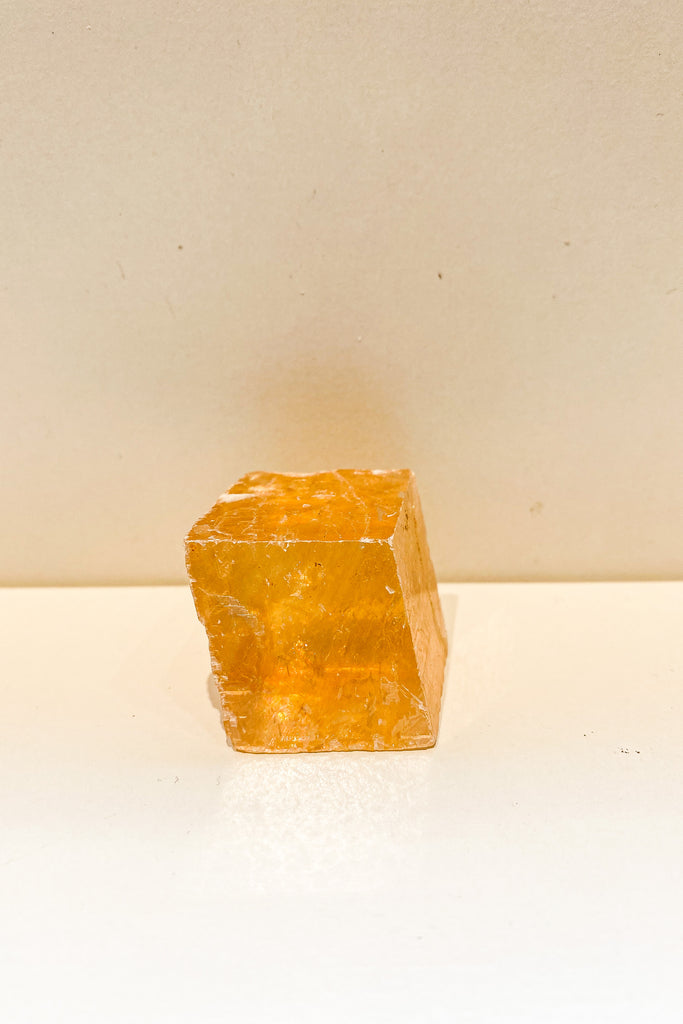 Honey Calcite Block No. III
