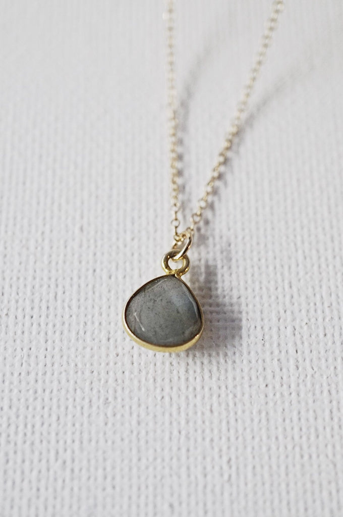 Jemme Labradorite drop necklace - KOOKII B