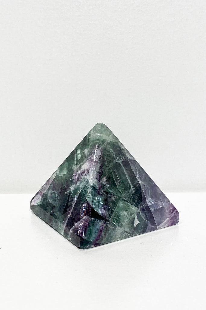Rainbow Fluorite Pyramid 50mm