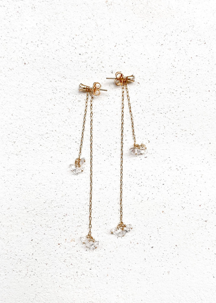Tali Herkimer diamond duo drop earring