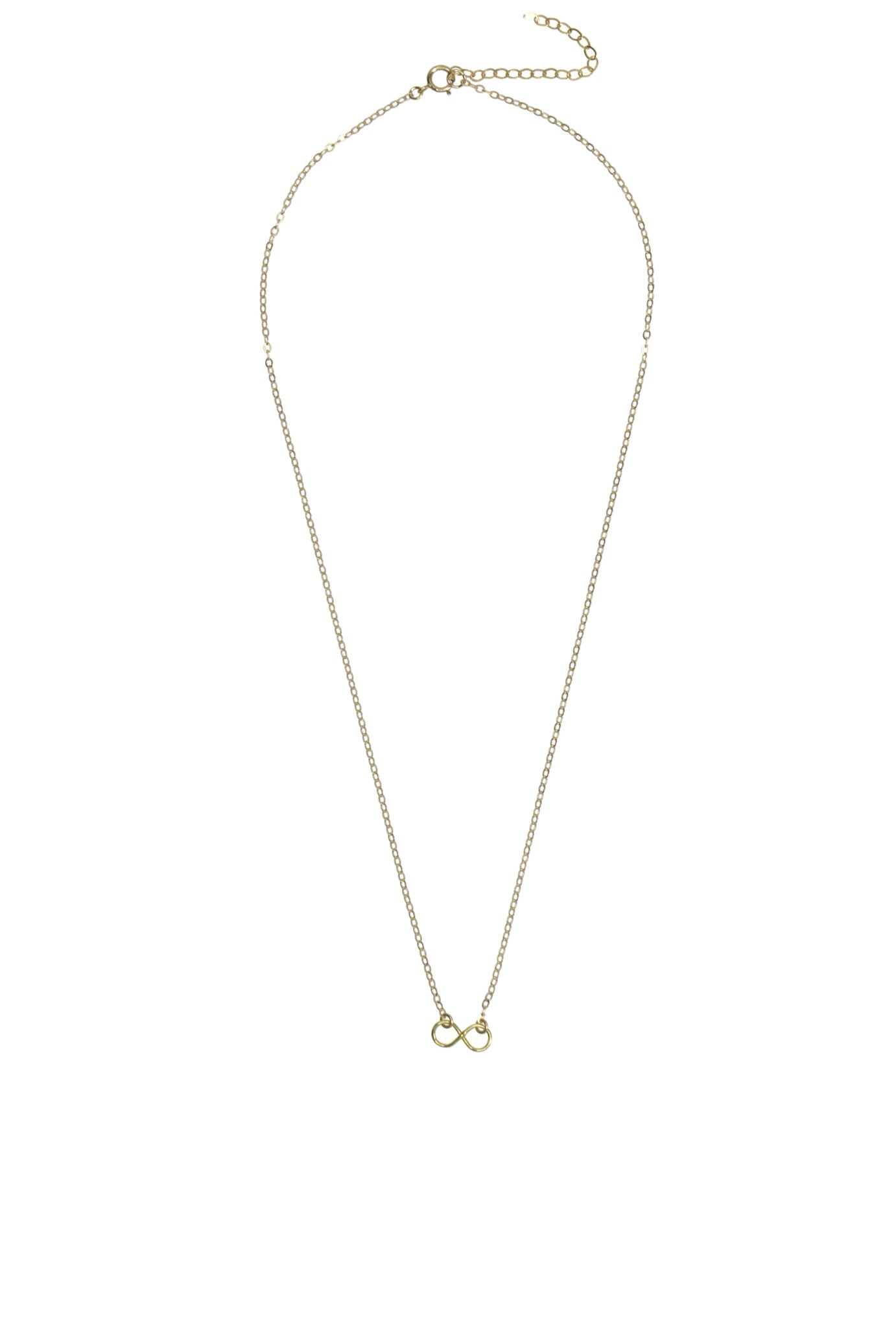 infinity gold breathe products gf necklace filled circle
