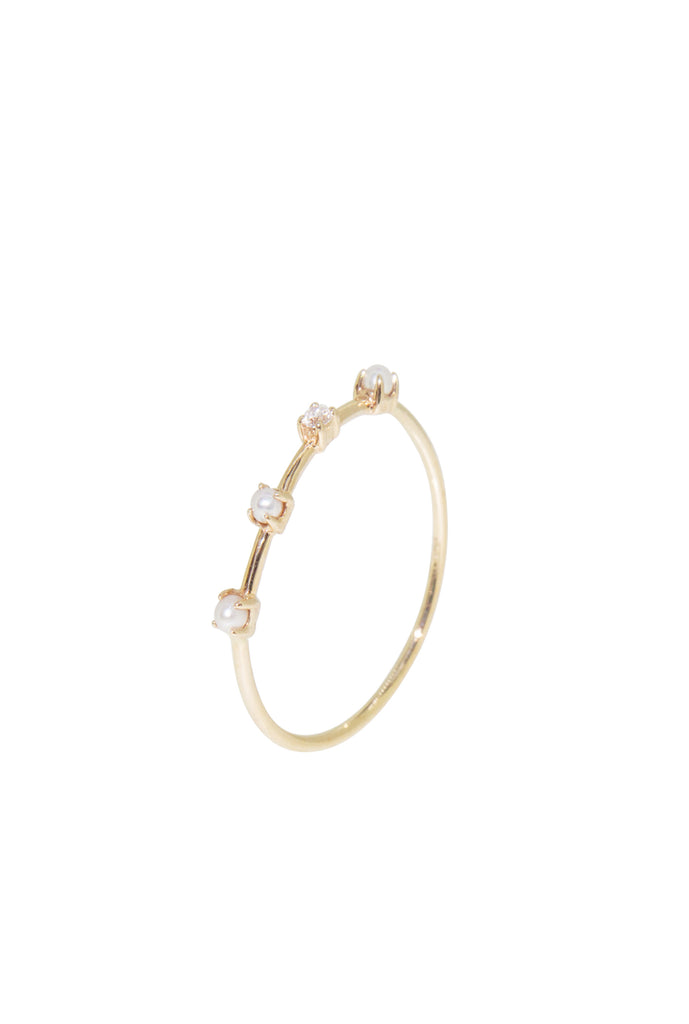 Iris pearl and diamond ring - US5
