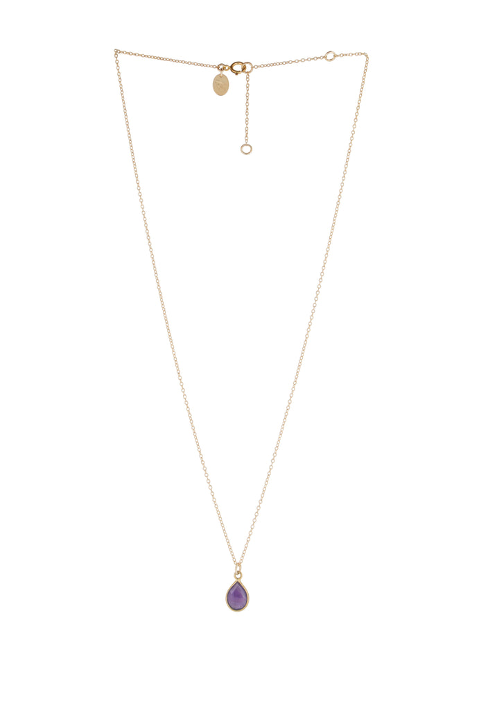 Jemme Amethyst drop necklace - KOOKII B