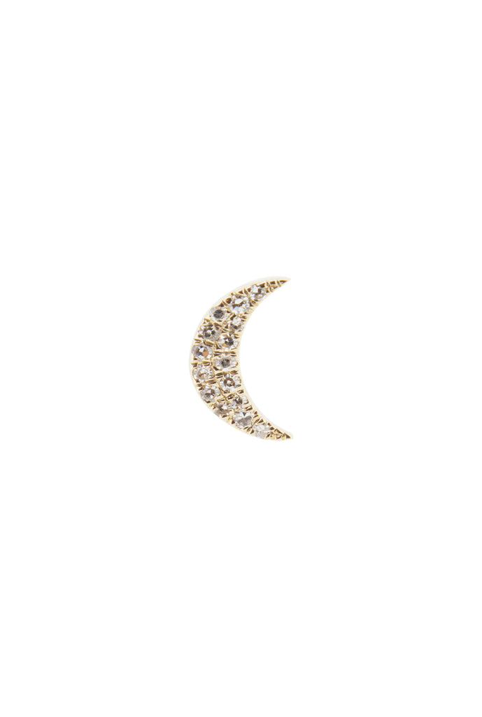Lunar moon crescent stud earring