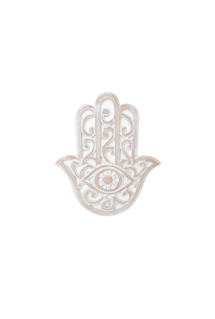 Hamsa Hand Wooden Decor Hanging
