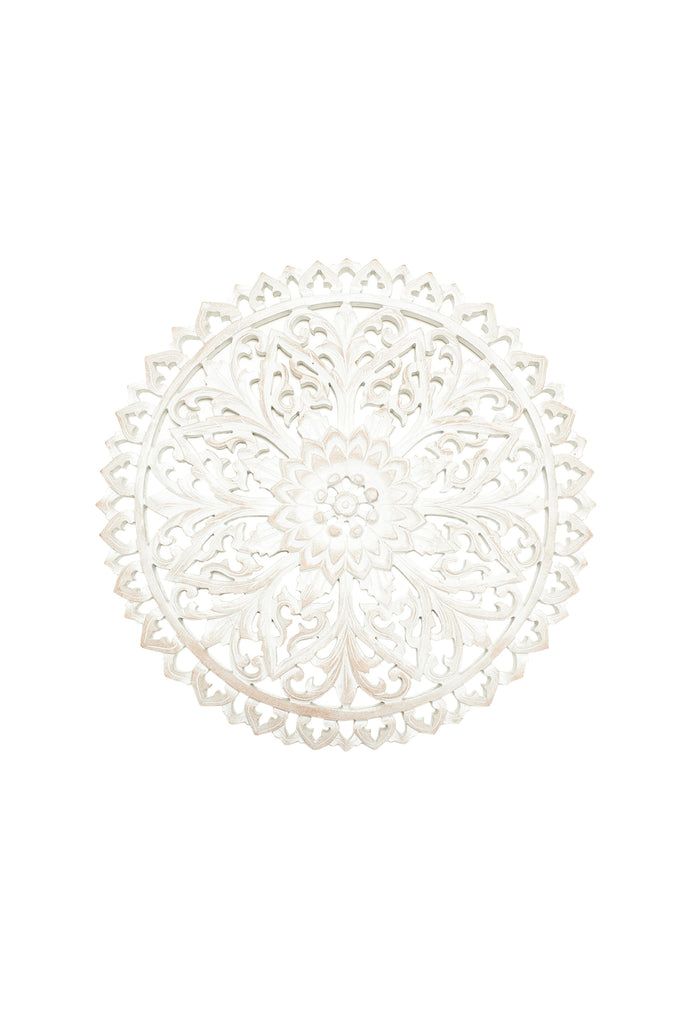 Circle Filigree Wooden Hanging