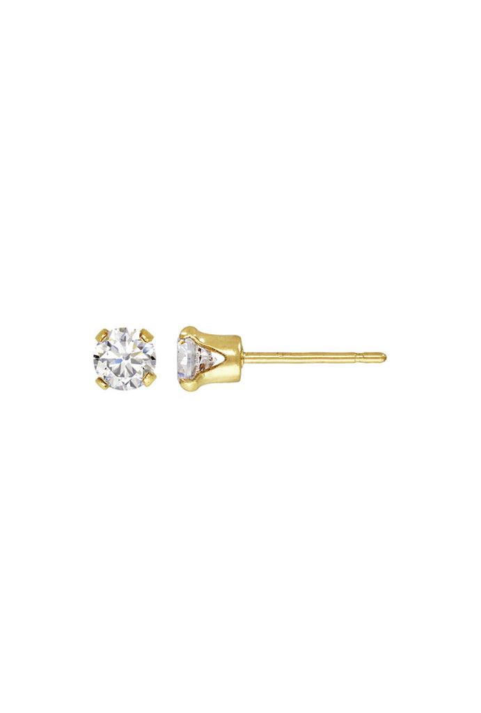 Sierra tiny crystal gold stud earrings