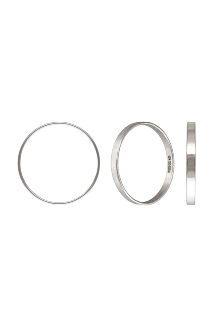 Flat Stacker Ring US4 - Silver - KOOKII B